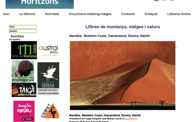 Presentación del viaje a Namibia en Libreria Horitzons