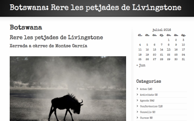 """Presentación del viaje a Botsuana: """"Tras las huellas de Livingstone"""""""