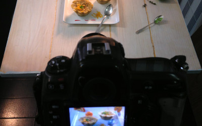 Making of food photography