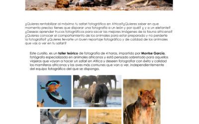 Taller fotográfico de fauna salvaje africana