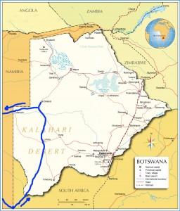 4 kalahari ruta botswana map