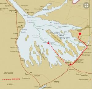 mapa okavango marcado ok