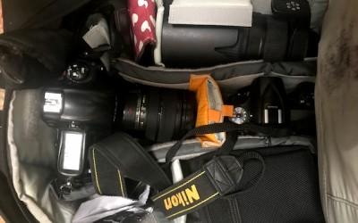 El equipo fotográfico en el viaje