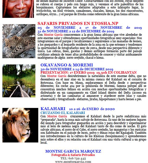 Campaña Viajes y Safaris Africa 2019-2020