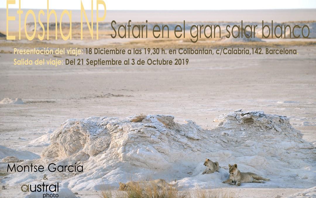 """Presentación  del safari a """"Etosha""""  y expedición """"Himbas & Bosquimanos"""""""